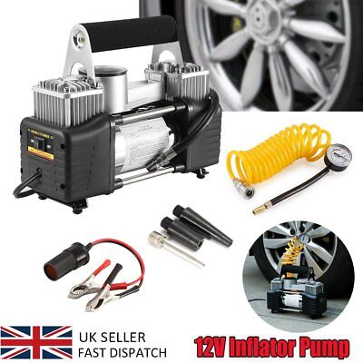 Pro Heavy Duty 12V Car Van Tire Air Compressor Pump Large Volume Tyre Inflator