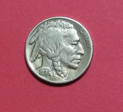 1936-S 5C Buffalo Nickel
