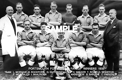 Portsmouth FC 1939 Cup  Team Photo