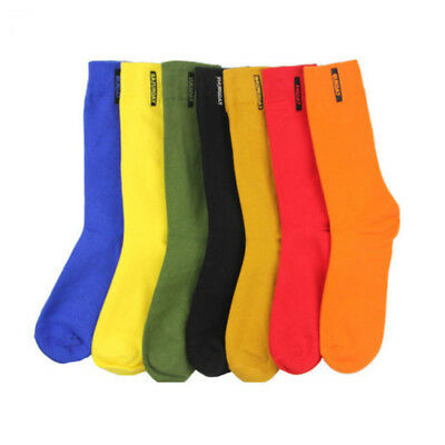 Mens Cotton Socks Solid Color British style Business Casual weekly Socks Fashion