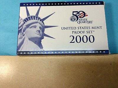 2000 S US Mint Proof (10 Coins Set) With Original Government Packaging & C.O.A.