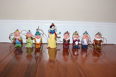 Disney Snow White and the Seven Dwarfs Christmas Ornament Set NEW!