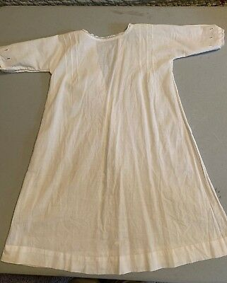 Vintage Antique Child Baby Lawn Full Length Gown  Handmade Christening