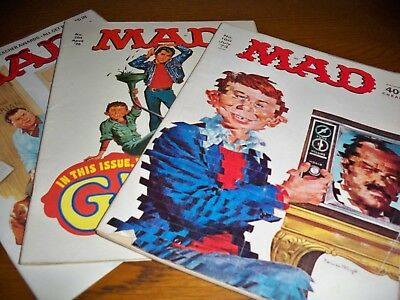 Vintage UK Mad Magazine nos  160, 204 and 267
