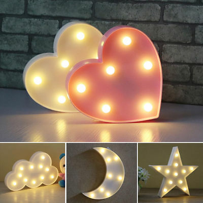 Cute 3D Star Cloud LED Night Light Wall Table Lamp Baby Kids Bedroom Home Decor