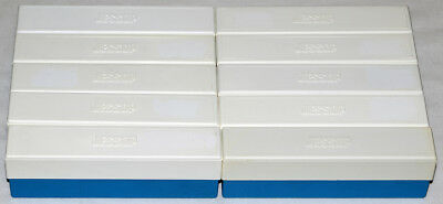 10 Jessops 35mm Slide Storage Boxes with Lids (Blue & White)