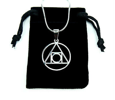 Philosopher's Stone Necklace, Stainless Steel Alchemy Elixir Life Charm Pendant