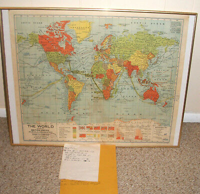 Wwii 1942 U.s. Soldier Traveling Log & Survival Map Route Marked Africa India +