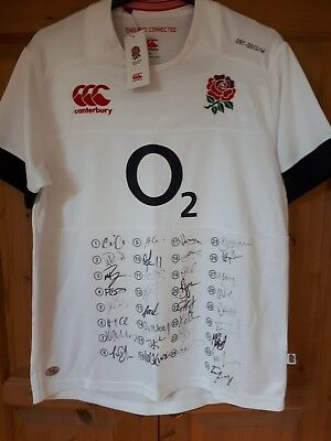 signed england rugby shirt