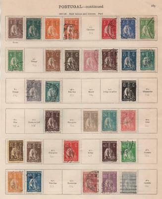 PORTUGAL: 1917-1925 Examples - Ex-Old Time Collection - 2 Sides Page (19874)