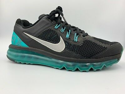 Nike Air Max + 2013 Running Shoe Black / Blue Mens Size 9.5. Nice!