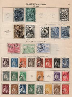 PORTUGAL: 1917-1926 Examples - Ex-Old Time Collection - Album Page (19856)