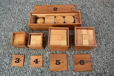 Sensory Educational Puzzle Toys Wooden Toy Autism Special Needs Creative VINTAGE