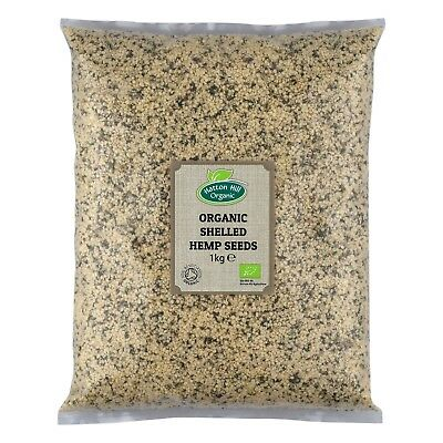 Organic Shelled (Hulled) Hemp Seeds 1kg Certified Organic
