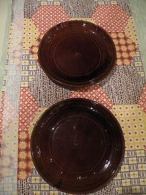 "2 Marcrest Stoneware Daisy Dot  Dinner Plates 9 1/2"", Great for Thanksgiving!"
