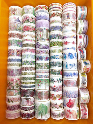 Washi Tape Samplers Set- 52 Mixed Premium Floral Designs-Scrapbooking-Planner
