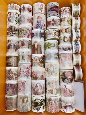 Washi Tape Samplers Set-Girls-Modern-Fairy-Princess-Gothic Girls-42 Designs