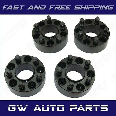 "4 Black 3"" HUB CENTRIC WHEEL SPACER 5X5 or 5x127 CB 71.5mm 14x15 JEEP"