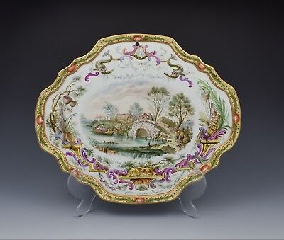 Large 19th Century French Lille Faience Wall Plaque