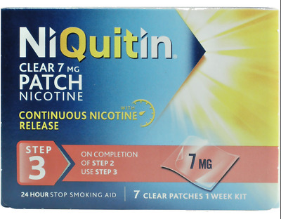 NiQuitin Clear patch Step 3 x 40 patches FREE P&P