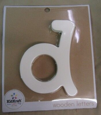 """.RARE - New KID KRAFT SOLID WOODEN LETTERS - *~d~* - FREE SHIPPING 6"""" Letter"""