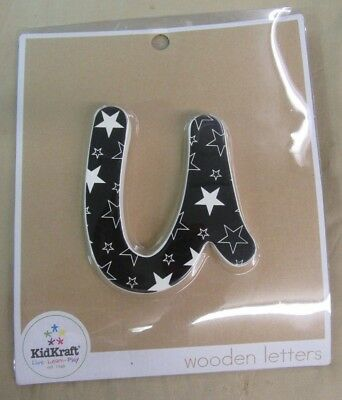 """.RARE - New KID KRAFT SOLID WOODEN LETTERS - *~u~* - FREE SHIPPING 6"""" Letter"""
