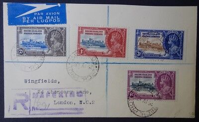 Bechuanaland 1935 Silver Jubilee Registered Mafeking on Cover