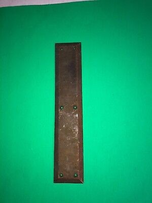 N 31 Antique Cast Brass Push Plate