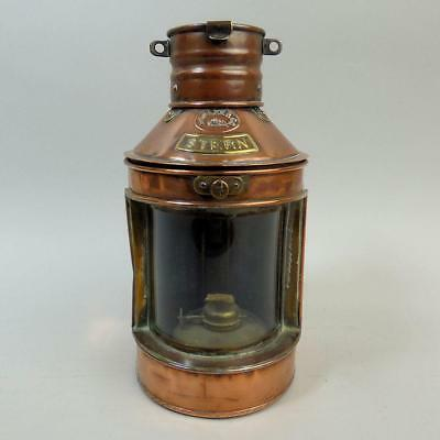 Vintage Hoplee & Co Copper Stern Maritime Ship Lantern