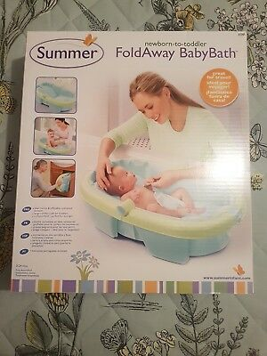 Newborn-To-Toddler Fold Away Baby Bath perfect for travel Excellent Condition