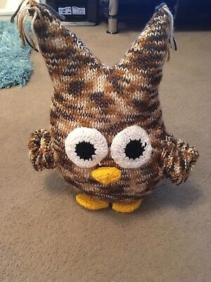 Hand Knitted Owl Teddy