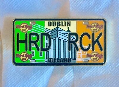 Hard Rock Cafe Dublin License Plate Series Pin!!