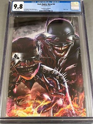 Dark Nights: Metal #6  CGC 9.8 Greg Horn Art Edition Con Variant D Cover!