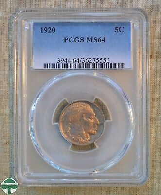 1920 Buffalo Nickel - Pcgs Slabbed - Ms64 ***very Attractive Coin***
