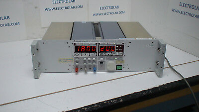 Rohde & Schwarz NGSM 32/10 0-18V/ 0-32V /0-20A 0-10A, DC Power Supply w/GPIB