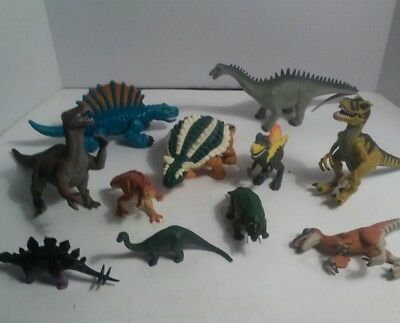 Large Mixed Brands Lot of 23 Assorted Sizes Dinosaur Toys Figurines