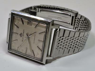 VTG Rare Bucherer Ref.1818 Swiss Made Automatic Date Square men's watch works