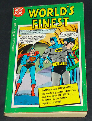 WORLD'S FINEST Batman Superman PAPERBACK Unread HTF 1970s