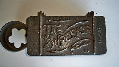 """Cast iron vintage tractor toolbox """"The Superior"""""""