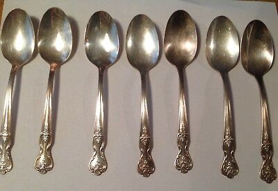 7 teaspoons by Wm Rogers extra plate Inspiration/Magnolia