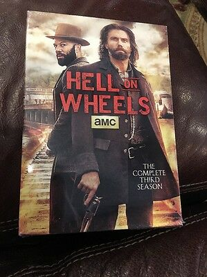 Hell on Wheels: The Complete Third Season (DVD, 2014, 3-Disc ) Sealed Brand New