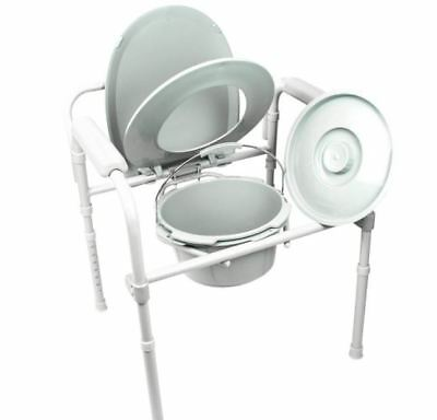 Vive Bedside Seat Commode, Adjustable Height, Folding, Portable, Lightweight