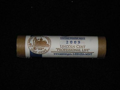 """2009  P   Lincoln  Cents   LP3  """"  Professional Life  """"  Uncirculated  Mint Roll"""