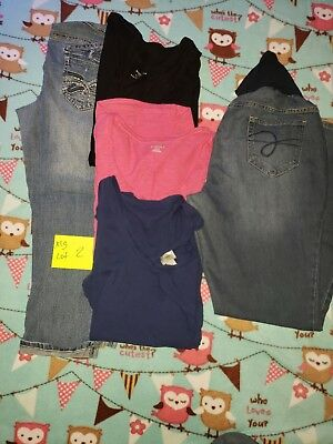 Motherhood Maternity tops and Jeans XL LOT 2 USED