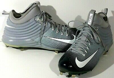 5490a622b NIKE LUNAR MIKE Trout 2 Metal Baseball Cleats Size 13 Grey -  27.99 ...