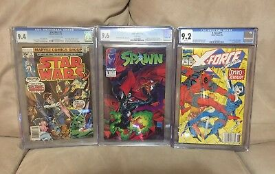 CGC Graded Marvel, Image Comics Spawn 1 9.6 Deadpool 9.2 Star Wars 9.4 Look! KEY