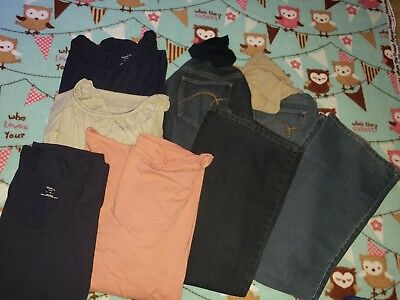 Motherhood Maternity tops and Jeans XL LOT 4 USED