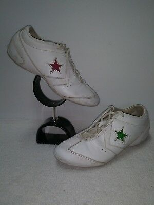 CONVERSE VINTAGE WHITE Leather Lace Up Athletic Shoes Size 9