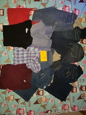 Motherhood Maternity tops and Jeans XL LOT A USED