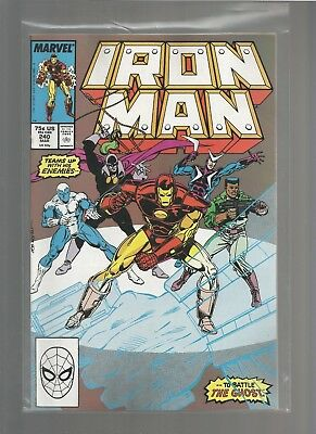 Iron Man #240 vf+ from March 1989 COMBINE SHIPPING GUICE/LAYTON ARTIST